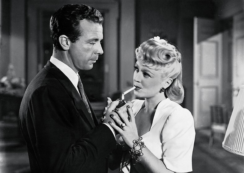 Claire Trevor and Dick Powell in Murder, My Sweet (1944)