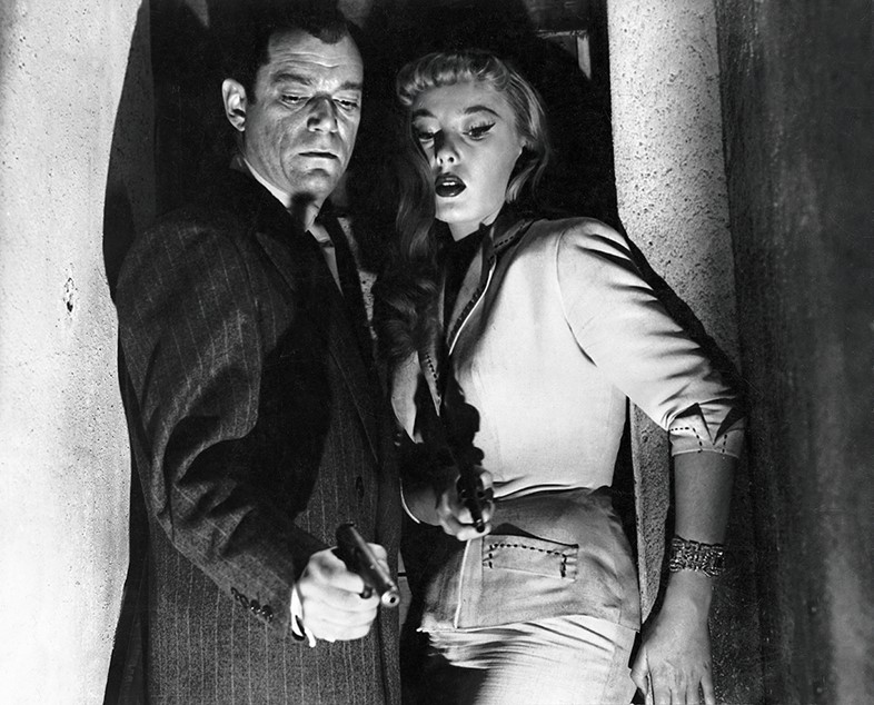 Eddie Constantine and Dominique Wilms in Poison Ivy (La Môme