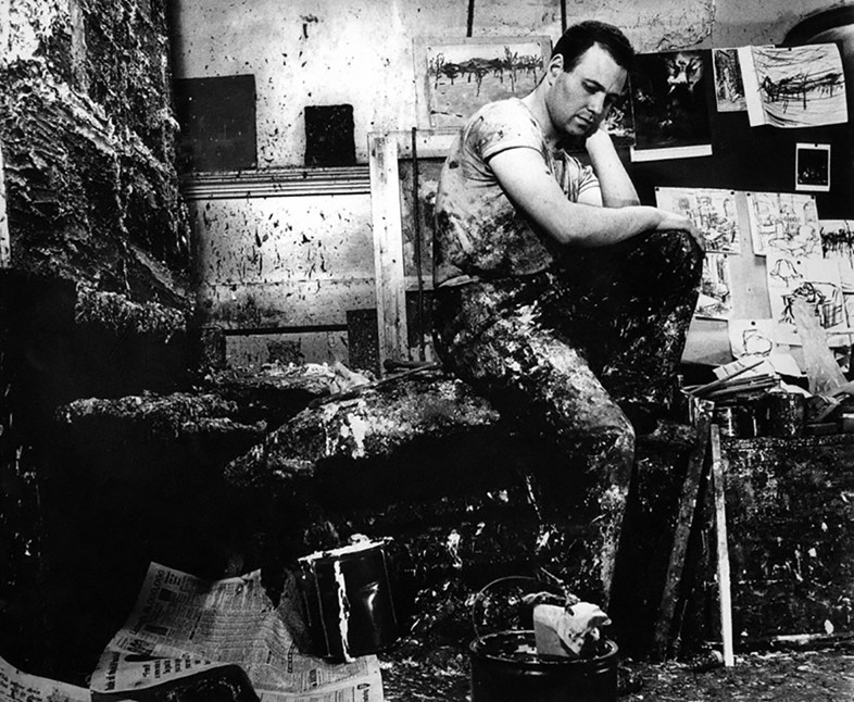 Auerbach in his studio by Jorge (J.S.) Lewinski.