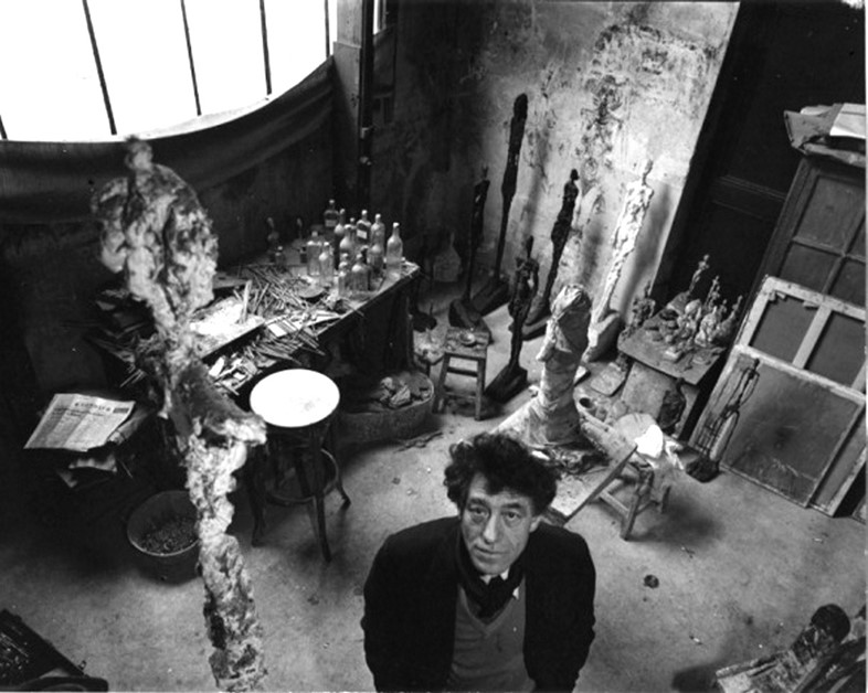 Alberto Giacometti in his studio