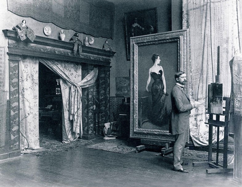 Sargent in his Studio beside Portrait of Madame X