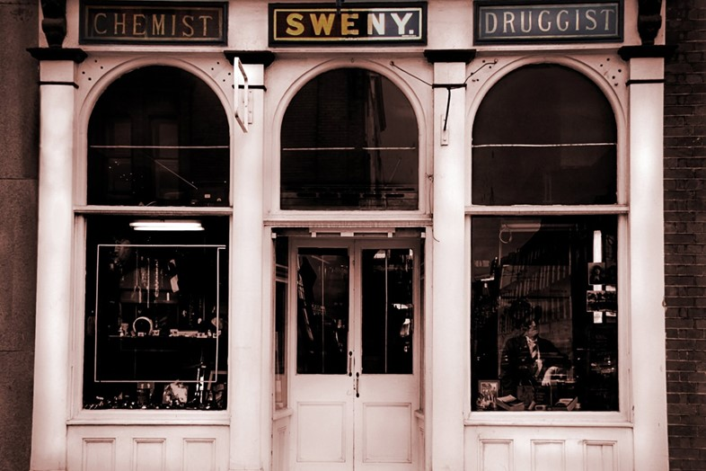 Sweny's on Lincoln Place in Dublin