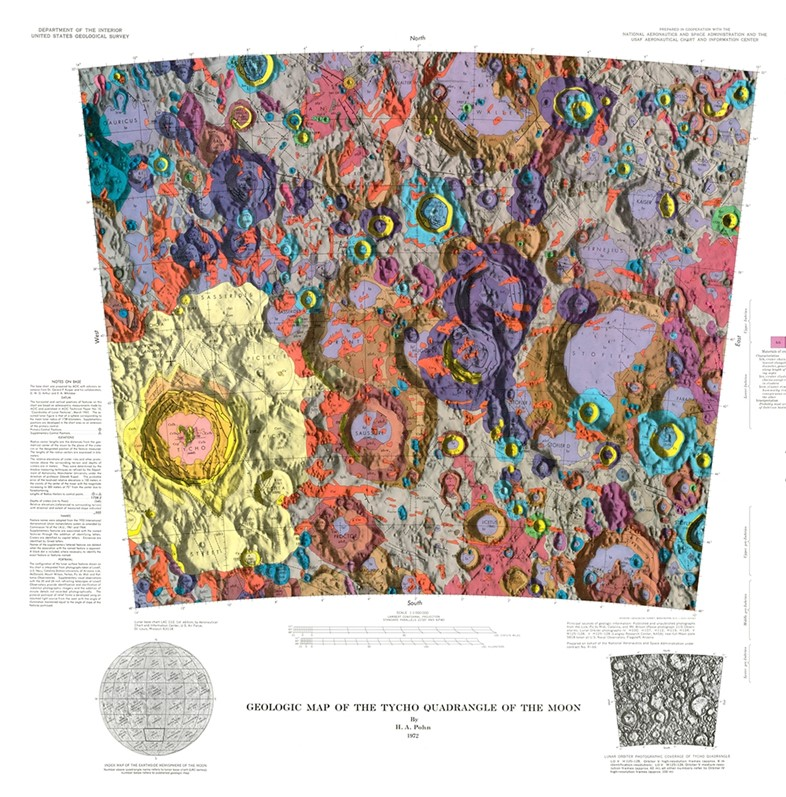 Geologic Map of the Tycho Quadrangle of the Moon