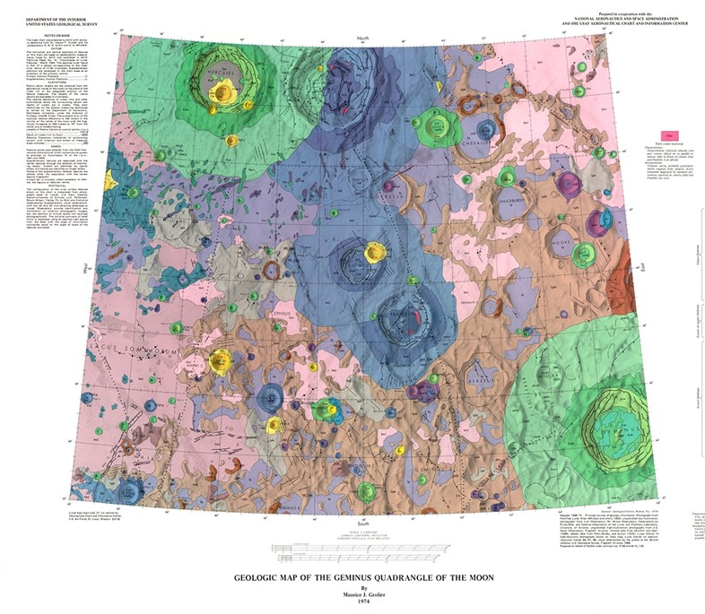 Geologic Map of the Geminus Quadrangle of the Moon