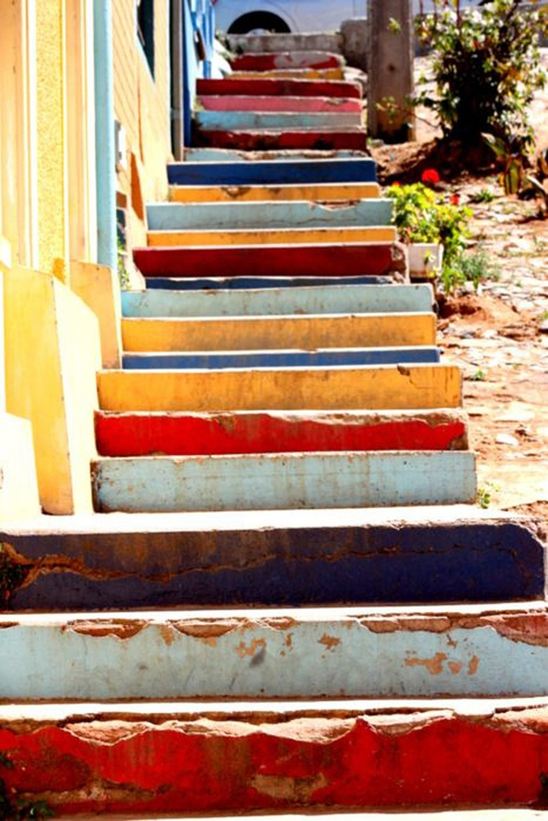 Multicoloured steps