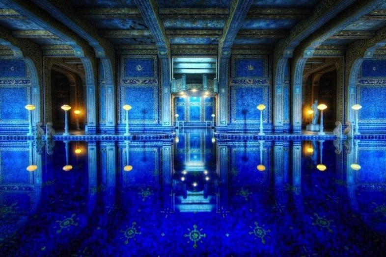 Swimming pool at Hearst Castle, California