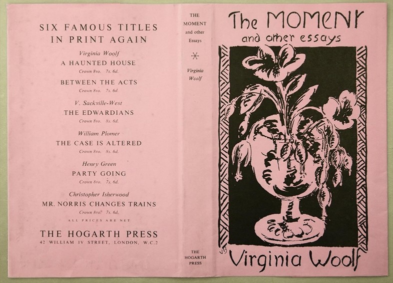 Vanessa Bell's cover design for 'The Moment and Other Essays