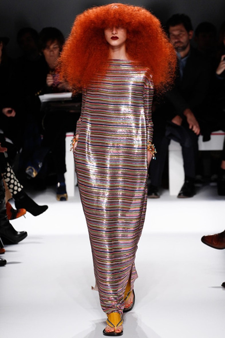 Grace Coddington hair at Schiaparelli Haute Couture, Spring