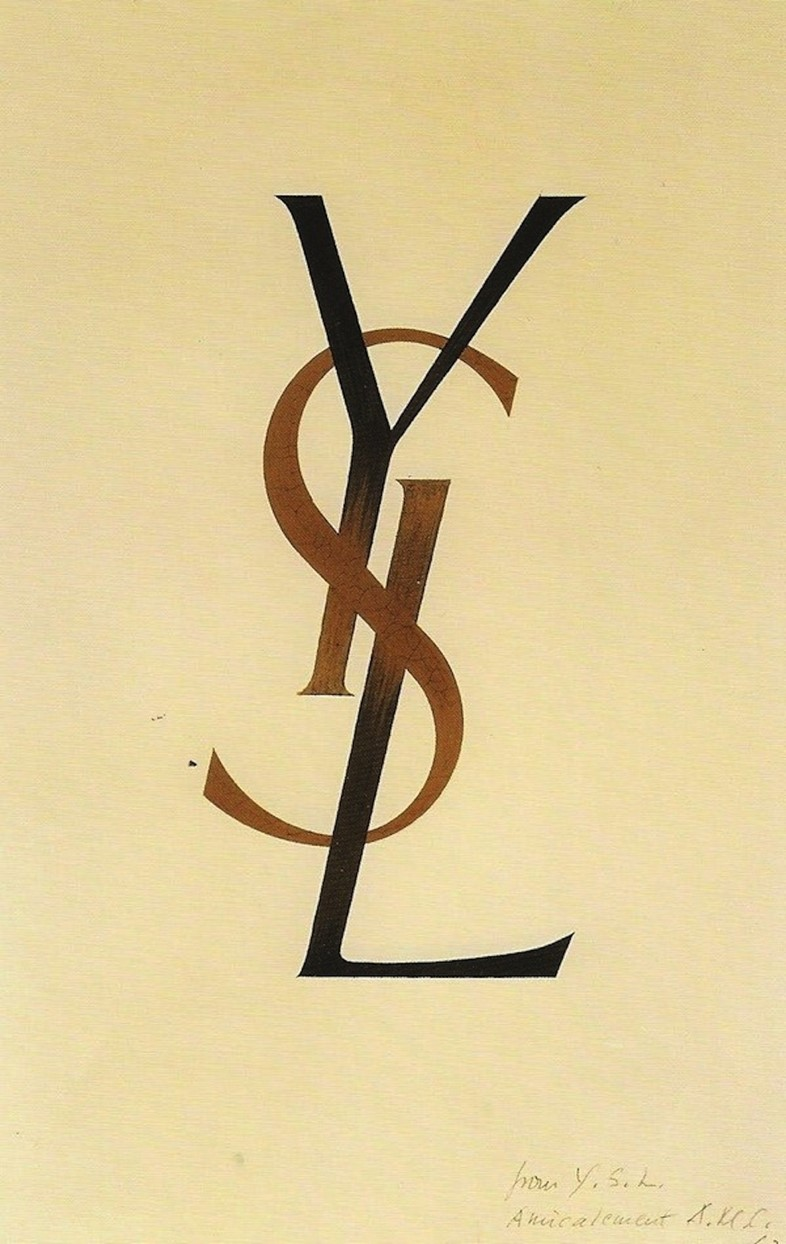 YSL logo, 1961 By Adolphe Mouron Cassandre