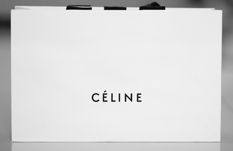 Céline carrier bag designed by Peter Miles