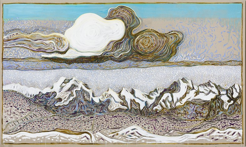 Billy Childish, the great cloud (after Segantini), 2014, 201