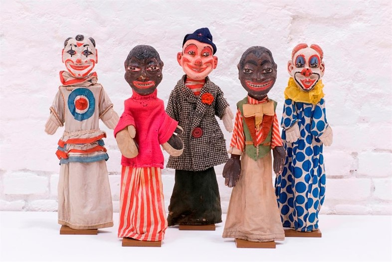 Clown and boxer puppets, c.1920-30