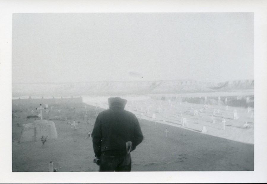 Untitled (cowboy in cemetery)