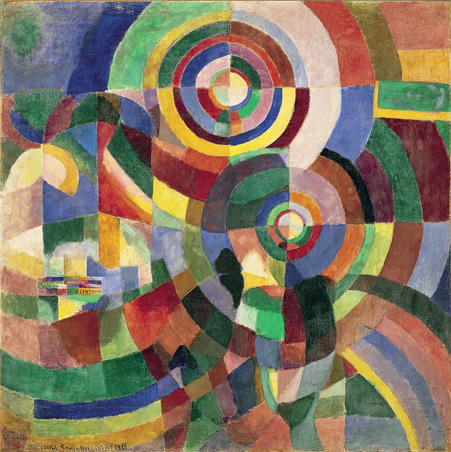 Electric Prisms, Sonia Delaunay, 1914