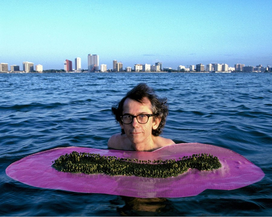 Christo during the the Miami Project