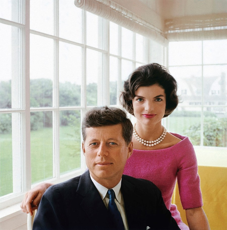 A portrait of Jackie and JFK , Yellow Room, 1959