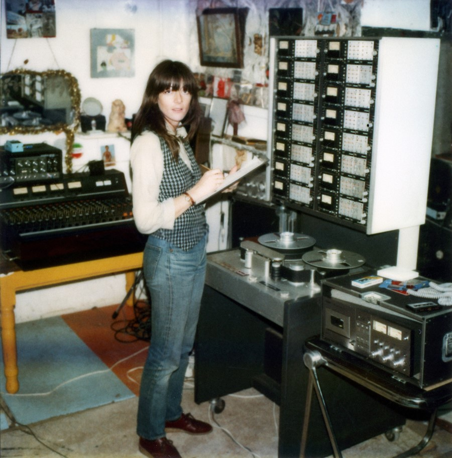 3. Cosey Fanni Tutti at the Industrial Records stu